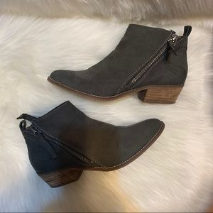 DV8 by Dolce Vita Gray Double Suede Booties
